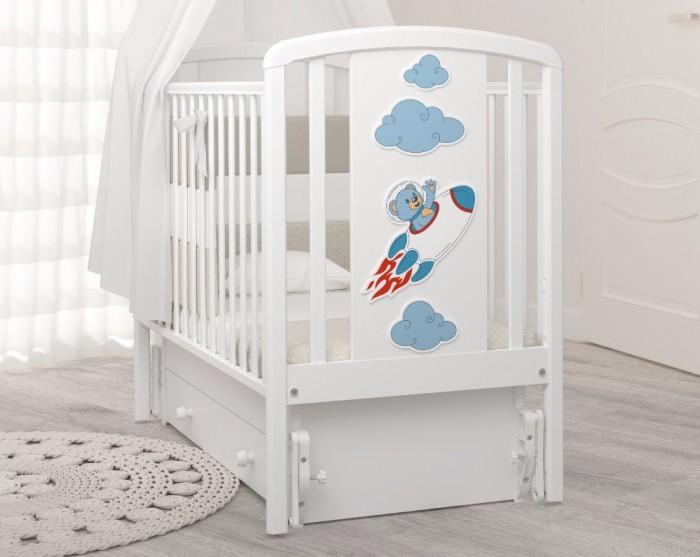 Детская кроватка Angela Bella Жаклин Мишка на ракете универсальный маятник