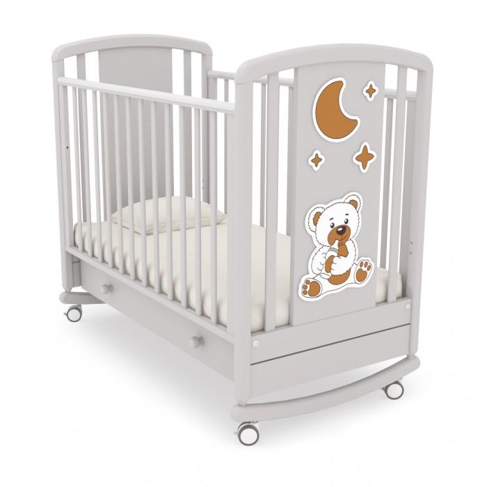Купить Детские кроватки, Детская кроватка Angela Bella Жаклин Мишка с соской качалка