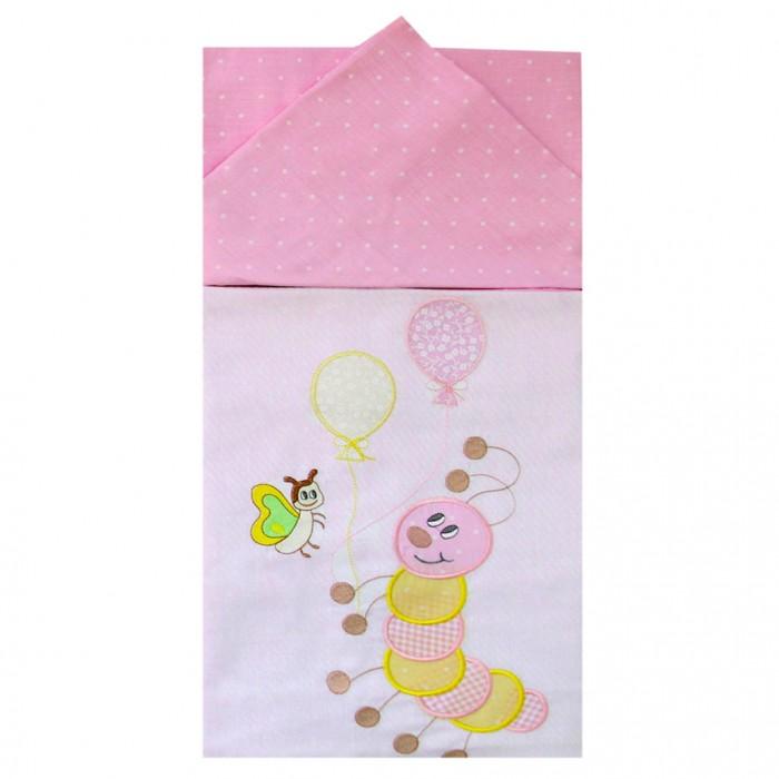 Постельные принадлежности , Постельное белье Ангелочки Гусеница (3 предмета) арт: 418324 -  Постельное белье