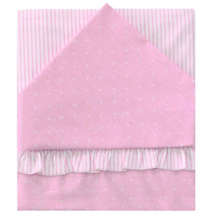 Купить Постельное белье Ангелочки комбинированное с рюшкой №1 (3 предмета)