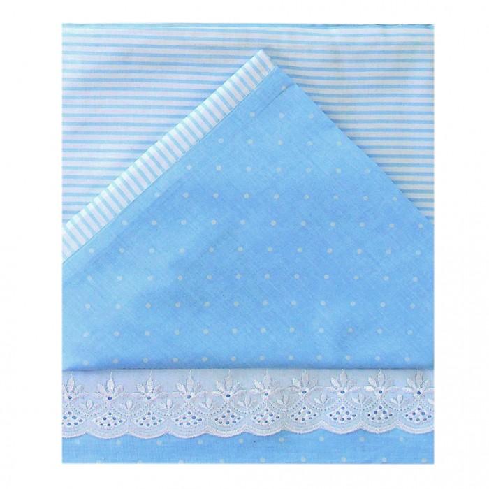 Купить Постельное белье Ангелочки комбинированный с шитьём №2 (3 предмета)