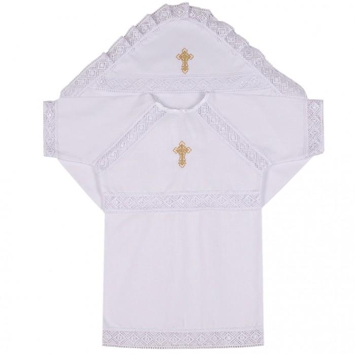 Крестильная одежда Ангелочки Крестильный набор универсальный №3