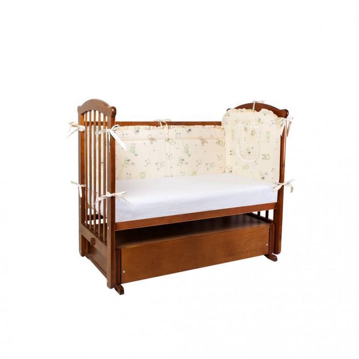 Постельные принадлежности , Бортики в кроватку Ангелочки низкий продольный с карманом арт: 368383 -  Бортики в кроватку
