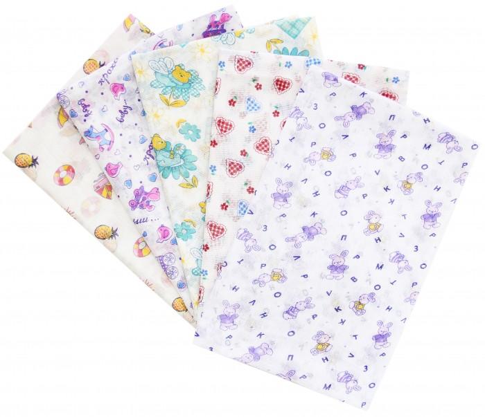 Пеленки Ангелочки Ситцевая 110х80 см wellber пеленка для новорождённых 80 80 см