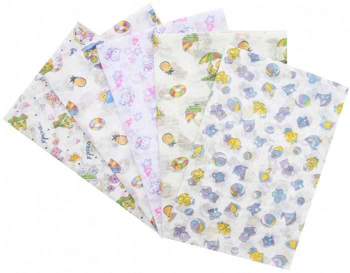 Пеленки Ангелочки Ситцевая 120х80 см wellber пеленка для новорождённых 80 80 см