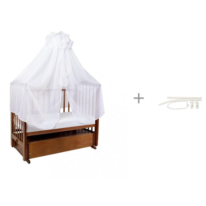 Балдахин для кроватки Ангелочки универсальный в сумке и Держатель Globex Опора (длинная) универсальный в сумке и Держатель Globex Опора (длинная)