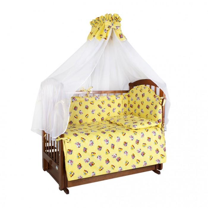 Комплекты в кроватку Ангелочки 5711 (7 предметов) балдахин на детскую кроватку купить в пензе