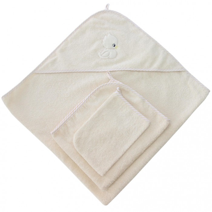 Полотенца Ангелочки Набор для купания с вышивкой (3 предмета) полотенца ангелочки пончо