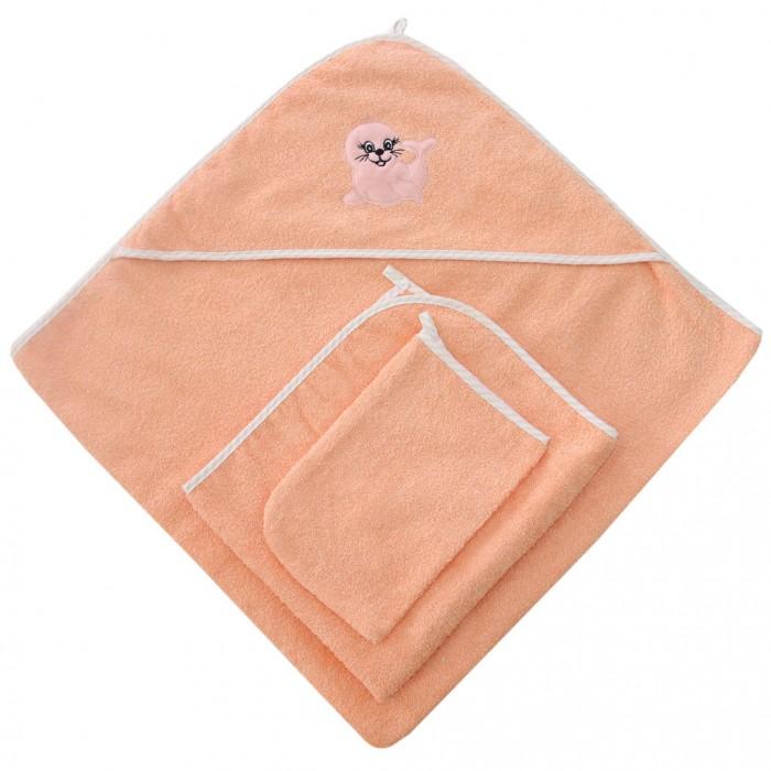 Купание малыша , Полотенца Ангелочки Набор для купания с вышивкой (3 предмета) арт: 330230 -  Полотенца