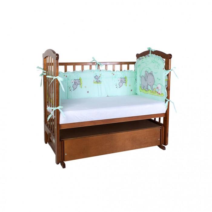 Постельные принадлежности , Бортики в кроватку Ангелочки низкий раздельный арт: 327599 -  Бортики в кроватку