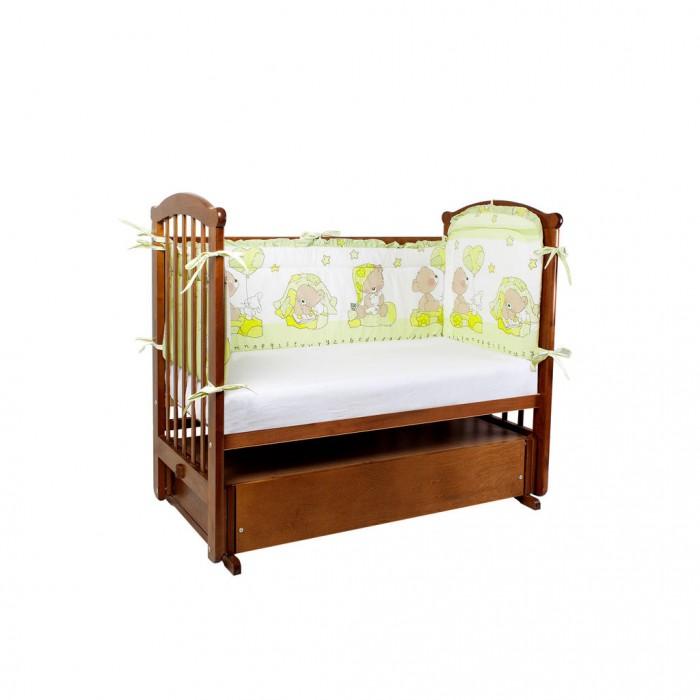Постельные принадлежности , Бортики в кроватку Ангелочки высокий раздельный арт: 327884 -  Бортики в кроватку