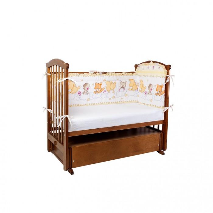 Бортики в кроватку Ангелочки высокий раздельный
