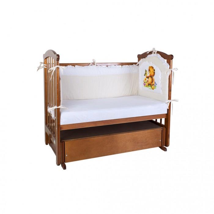 Бортики в кроватку Ангелочки высокий раздельный с аппликацией кислотные красители в алматы