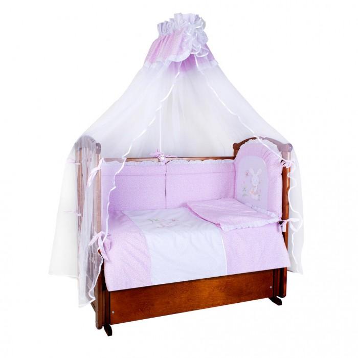 Комплекты в кроватку Ангелочки Зайка на полянке (7 предметов) комплекты в кроватку ангелочки 5720 7 предметов