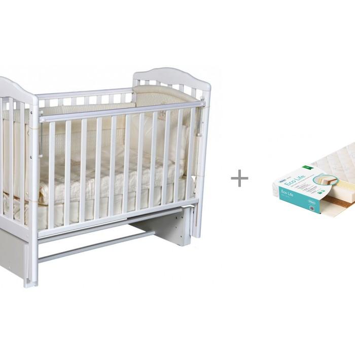 цена на Детские кроватки Антел Алита 3/5 с матрасом Плитекс EcoLife