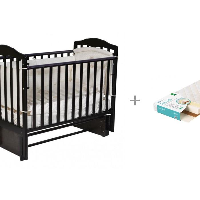 Детские кроватки Антел Алита 3/5 с матрасом Плитекс EcoLife