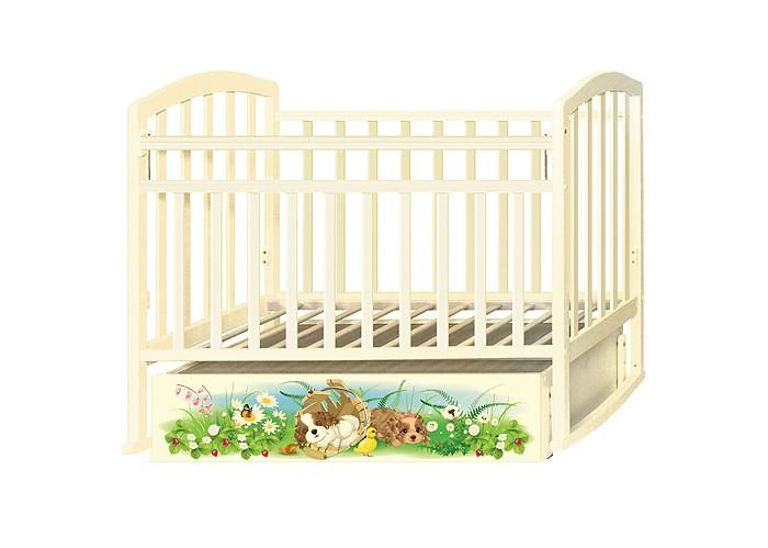 Детские кроватки Антел Алита 4 Щенки (маятник поперечный)