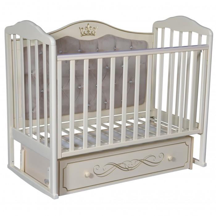 цена на Детские кроватки Антел Alita 777 с мягкой спинкой (универсальный маятник)
