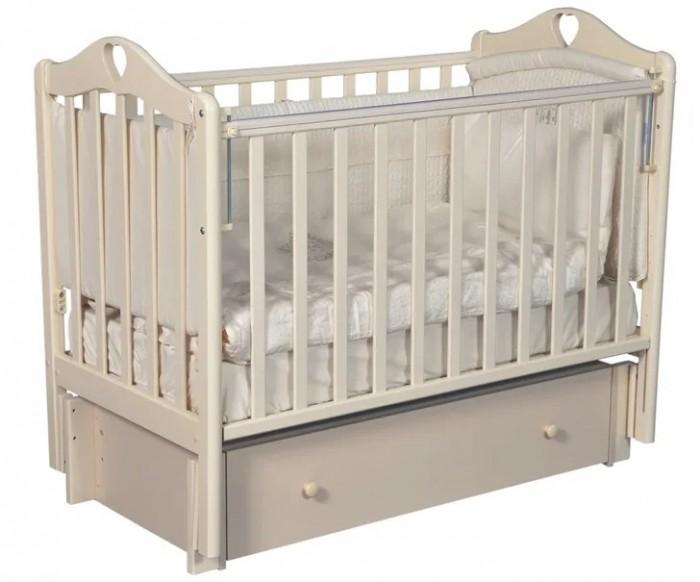 Картинка для Детская кроватка Антел Каролина 4/6 универсальный маятник