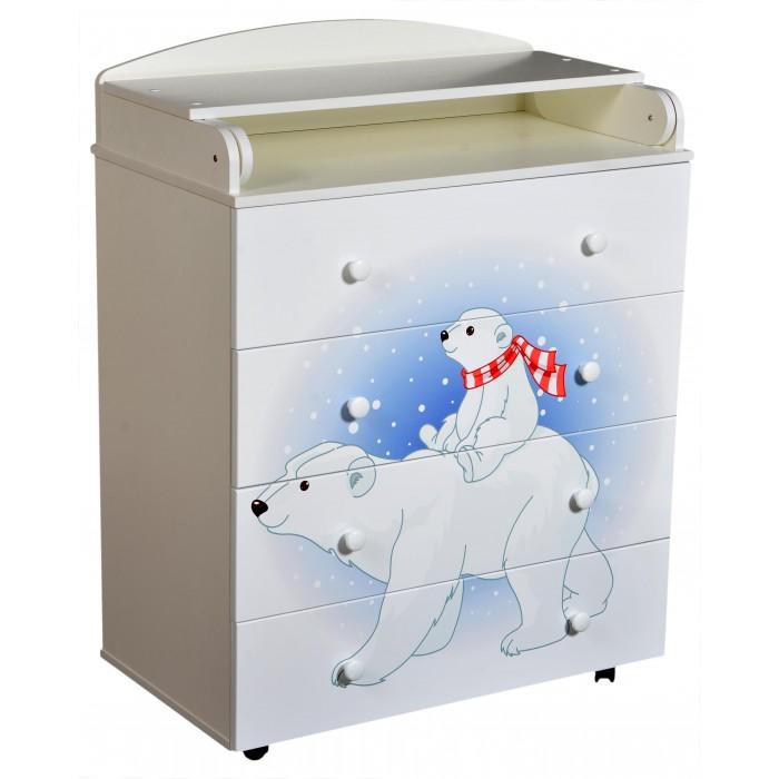 Картинка для Комоды Антел Lilu 1 пеленальный 4 ящика