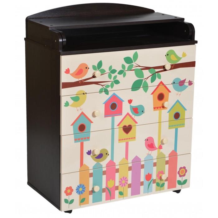 Картинка для Комоды Антел Lilu 3 пеленальный 4 ящика