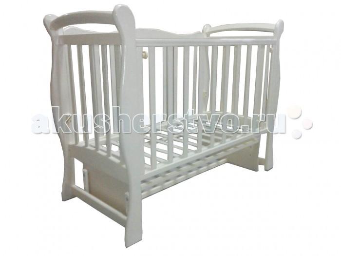 Детская мебель , Детские кроватки Антел Северянка 1/3 маятник поперечный арт: 433634 -  Детские кроватки