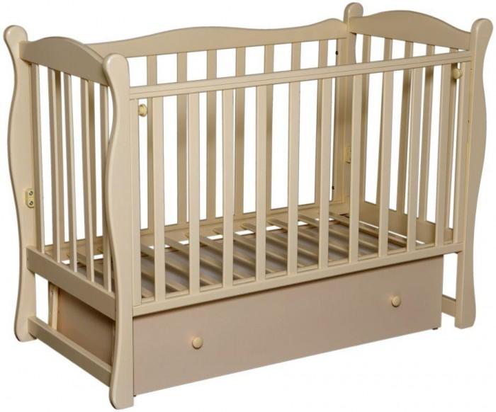 Детская кроватка Антел Северянка 2Северянка 2Детская кроватка Северянка 2 имеет поперечный маятник, производится из высококачественной натуральной древесины – массива березы, которая обладает высокой прочностью и эластичностью, так что мебель прослужит вам долго! Для окрашивания кроватки использовались исключительно экологичные лаки и краски, которые совершенно безопасны даже для деток с повышенной аллергической чувствительностью.  Мебель лишена острых углов и мелких деталей, которые несут риск травмирования ребенка.  Особенности: оборудована механизмом опускания передней стенки 2 уровня ложе закрытый вместительный ящик отличное качество обработки дерева и покраски<br>