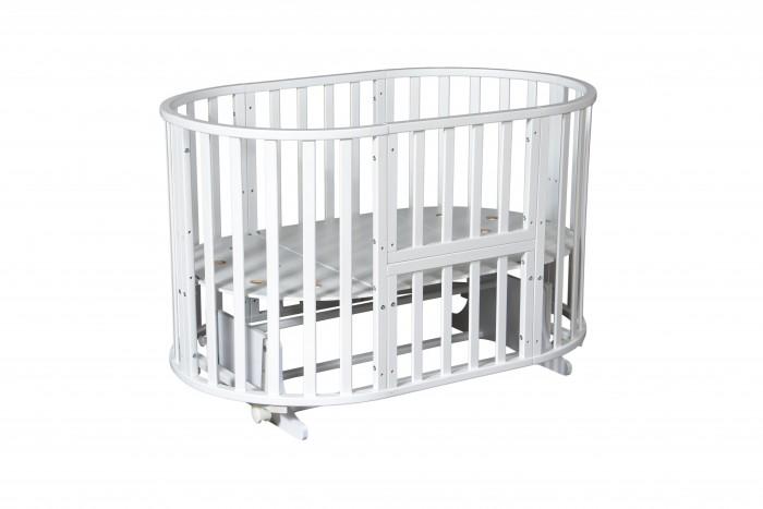 Кроватка-трансформер Антел Северянка-3 6 в 1 маятник поперечныйСеверянка-3 6 в 1 маятник поперечныйКровать-трансформер Антел Северянка-3 6 в 1 маятник поперечный по мере роста малыша кроватка будет меняться и всегда будет удобной и комфортной для ребенка.   Сделана из массива березы, все детали кроватки идеально гладкие, покрытые безвредным полиуретановым лаком.   С такой кроваткой детская комната будет стильной и уютной, а вашем ребенку будет комфортно, безопасно и очень удобно.  Особенности и преимущества кровати Северянка-3: Для детей с рождения. Сделана из массива березы. В комплекте идет поперечный маятник, который подойдет для круглой и овальной кроватки. У кроватки 6 вариантов сборки: круглая колыбель (возможность установки маятника) + пеленальный столик (ШхД 50х79 см) овальная кровать (возможность установки маятника)  манеж диван стол + люлька столик + 2 стульчика Есть колеса для удобного перемещения кроватки по квартире. 3 уровня по высоте. Спальное место (см)круглая колыбель диаметр - 75 см; кровать - 125 x 75 см Высота 87 см.  Все кровати комплектуются колесами в белом цвете<br>
