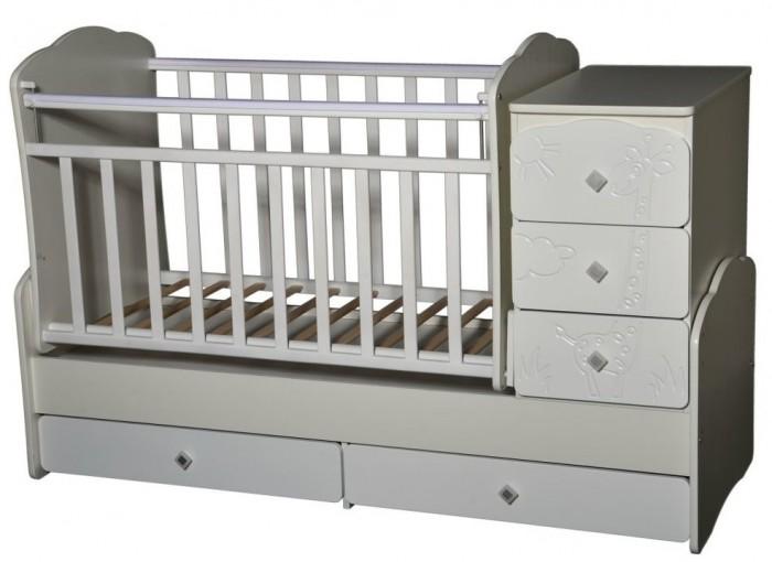 Кроватки-трансформеры Антел Ульяна 1 Жираф (поперечный маятник)