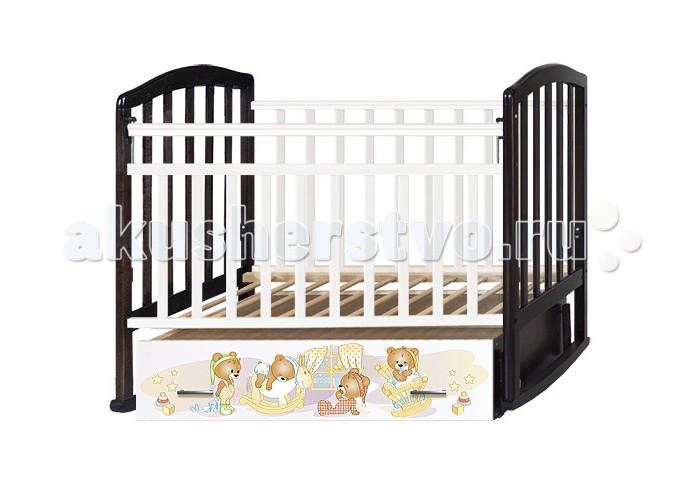 Детские кроватки Антел Алита 4 Медвежата (маятник поперечный)