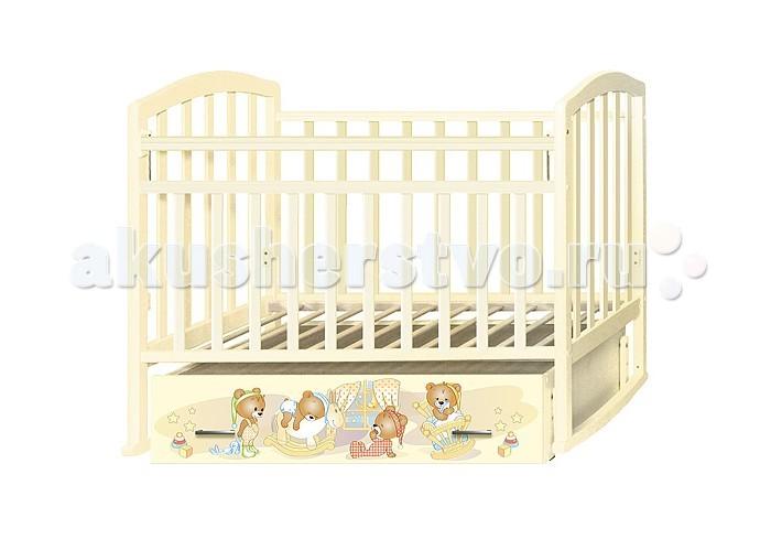Детская мебель , Детские кроватки Антел Алита 4 Медвежата (маятник поперечный) арт: 323559 -  Детские кроватки
