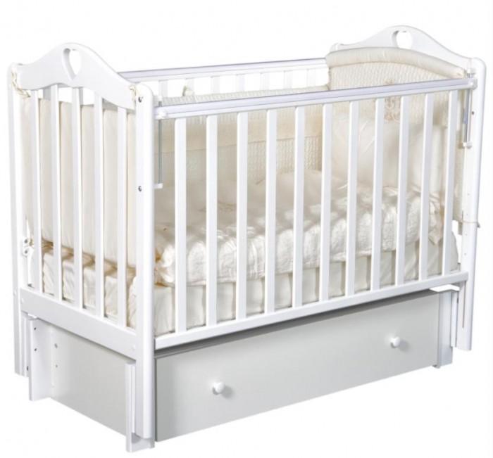 Детская кроватка Антел Каролина 4 маятник поперечный фото