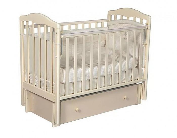 Детские кроватки Антел Каролина 4 маятник поперечный кроватка кубаночка 2 продольн маятник ящик белая
