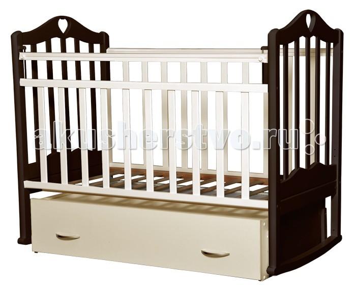 Детская кроватка Антел Каролина 4 маятник поперечный