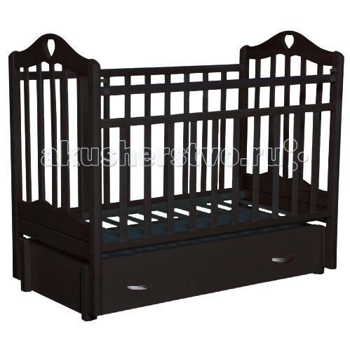 Купить со скидкой Детская кроватка Антел Каролина 6 маятник продольный