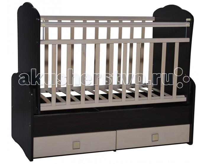 Кроватка-трансформер Антел Ульяна 3 фигурные спинки поперечный маятник
