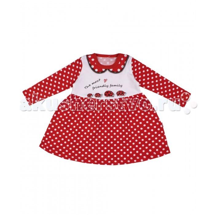 Детские платья и сарафаны Апрель Платье для девочки ДПД082067н Божья коровка