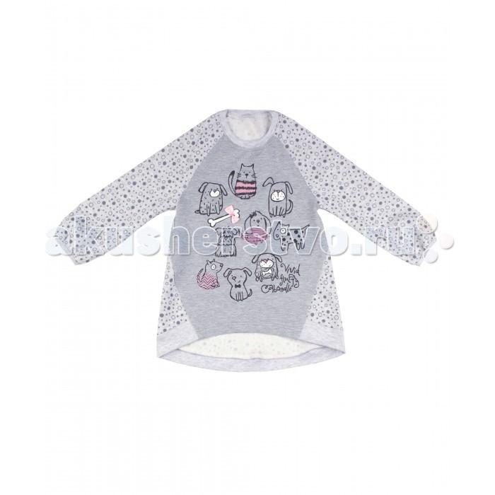 Джемперы, свитера, пуловеры Апрель Туника для девочки ДДД608339н Кошки-мышки