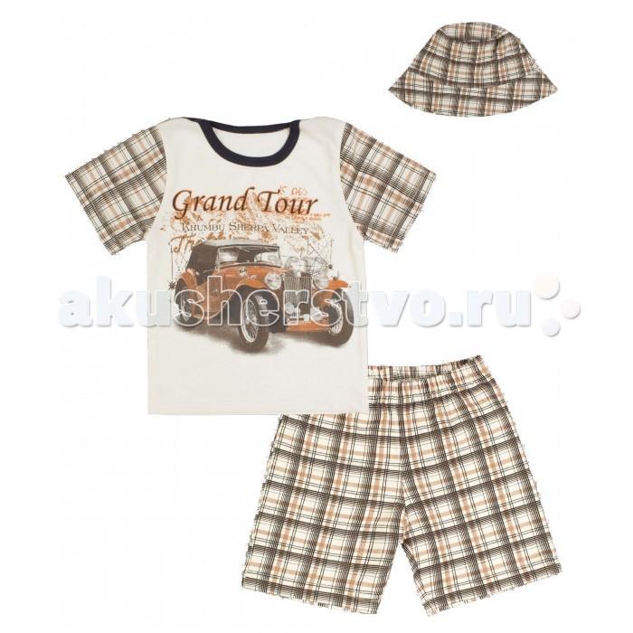 Комплекты детской одежды Апрель Комплект (футболка, шорты, панама) Марка-люкс апрель комплект одежды
