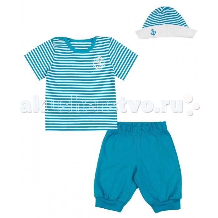 Комплекты детской одежды Апрель Комплект (футболка, шорты, панама) Юнга апрель комплект одежды