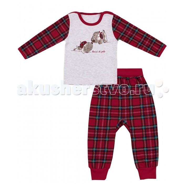 Комплекты детской одежды Апрель Комплект (лонгслив и штанишки) Шотландские песики