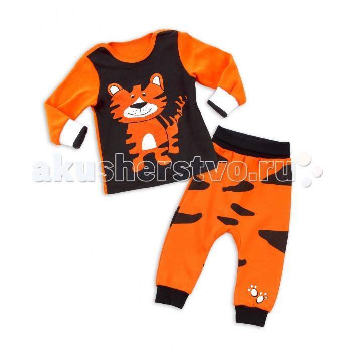 Апрель Комплект (лонгслив на кнопках и штанишки) Тигра