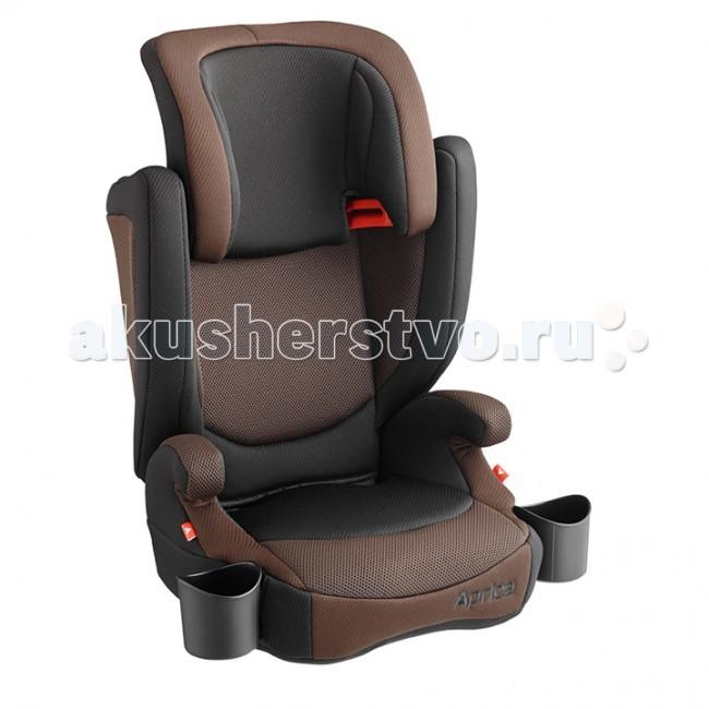 Автокресло Aprica Air RideAir RideАвтокресло Aprica Air Ride для ребенка от трех до 11 лет, разработанное с учетом физиологических особенностей строения тела маленького пассажира. Автокресло имеет регулируемый по высоте подголовник, а это значит, что изделие будет «расти» вместе с ребенком. По достижении веса 22 кг вы можете снять спинку, трансформировав автокресло в удобный бустер.   Изделие оборудовано удобными подстаканниками и подлокотниками, имеет отличную систему вентиляции и специальные 3D подушки, расположенные в области головы, спины и боков. Автокресло рассчитано на длительный период времени, гарантируя на всем протяжении его эксплуатации максимальный комфорт и безопасность во время поездки.   Особенности: предназначено для детей от 3 до 11 лет (вес от 15 до 36 кг), для детей весом от 22 до 36 кг автокресло трансформируется в бустер соответствует европейскому стандарту безопасности (ECE-R44/04) широкое, комфортное сидение с подлокотниками. Со временем спинка снимается, оставляя удобный бустер регулируемый по высоте подголовник поддерживающие 3D подушки в области головы, спины, боков удобные подстаканники вентиляционные отверстия в области головы, спины, боков съемная ткань легко стирается при температуре 30°С крепится по ходу движения при помощи штатных ремней  Размеры (дхгхв) - 44.2х41.3х67.2-75 см Вес:    автокресла  4.5 кг бустера  1.7 кг<br>