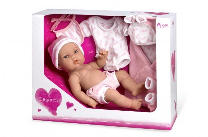 Купить Куклы и одежда для кукол, Arias Кукла Elegance с пинетками 33 см