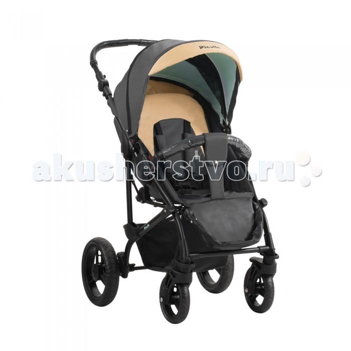 Прогулочная коляска Aroteam PicolloPicolloКоляска прогулочная Aro Team Picollo - прогулочная детская коляска, сочетающая функции спального варианта и прогулочного блока. Изделие предназначено для детей от 1-ого месяца до 3-х лет (максимальный вес ребенка 15кг). Устройство сиденья коляски позволяет регулировать спинку и подножку.  Прогулочная коляска от польского бренда Aro Team не только обладает великолепным дизайном, но и отличными функциями. Коляска идеальна для прогулок, имеет возможность настройки в сидячем или в лежачем положении. Коляска отличается высокой степенью надежности, плавностью хода, наличием всего необходимого для комфорта малыша и мамы. Капюшон съемный, на молнии. Стильный чехол на ножки хорошо защищает от холода. Рама создана из облегченного, но очень прочного алюминия. В комплекте есть дождевик (москитная сетка и сумка для покупок отсутствуют). Коляска является аналогом популярной модели Bebetto Megelan, ничем не уступает ей по качеству, не отличается по функционалу.   Особенности:    Устройство сиденья коляски AroTeam PICOLLO позволяет регулировать спинку и подножку.  Коляски Aro Team производятся на одной фабрике с маркой Bebetto. Абсолютный аналог Bebetto Magelan.  Рама полуавтомат  Бесшумное опускание капюшона  Пятиточечные ремни безопасности  Фиксация спинки в 3-х положениях  Съемный поручень  Вместительная корзина для покупок  Вращение передних колес на 360°  Алюминиевая облегченная рама  Регулировка высоты ручки  Пружинный механизм амортизации  Мягкая амортизация  Регулируемая спинка  Регулируемая подножка  Козырек от солнца  Непромокаемая ткань  Поворачивающиеся колеса, пластиковые (D=18 см)  В модели есть молния на капюшоне, которая позволяет открыть сетку    В комплект входит:    Накидка на ноги    Размеры:    Передние колеса – поворотные с фиксатором (есть брызговики) диаметром 19 см, задние – диаметром 28 см, с тормозной системой.  В разобранном состоянии – ширина 59 см х длина 94 см х высота 103 см, в собранном – ширина 59 см х длин