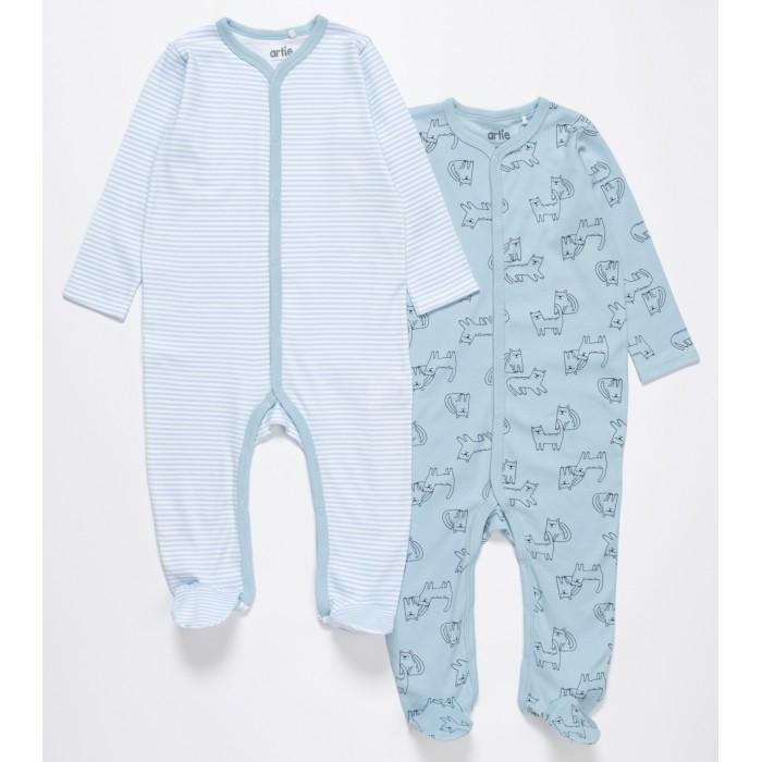 Боди, песочники, комбинезоны Artie Комбинезон для мальчиков Basic Babywear Котики 2AK-605m 2 шт. недорого