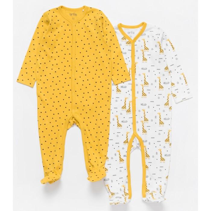 Боди, песочники, комбинезоны Artie Комбинезон для мальчиков Basic Babywear Жирафы 2AK-605m 2 шт. недорого