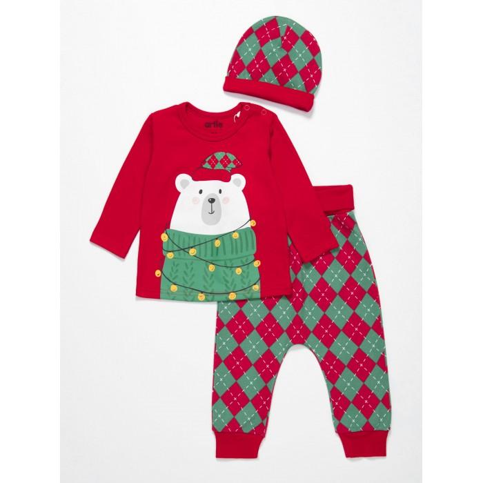 Комплекты детской одежды, Artie Комплект детский (джемпер, брюки, шапочка) AKt3-593dn  - купить со скидкой