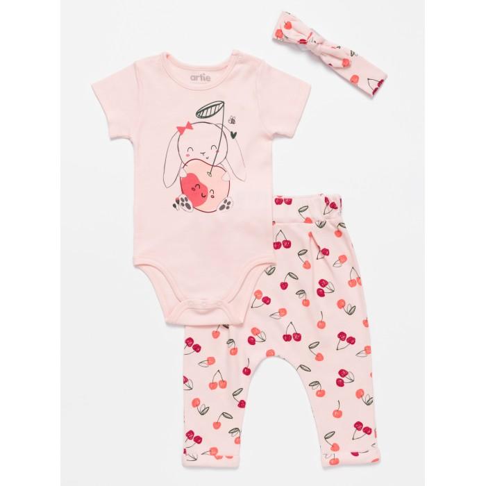 Купить Комплекты детской одежды, Artie Комплект для девочек (боди, штанишки, повязка) Sweet cherry AKt3-693d