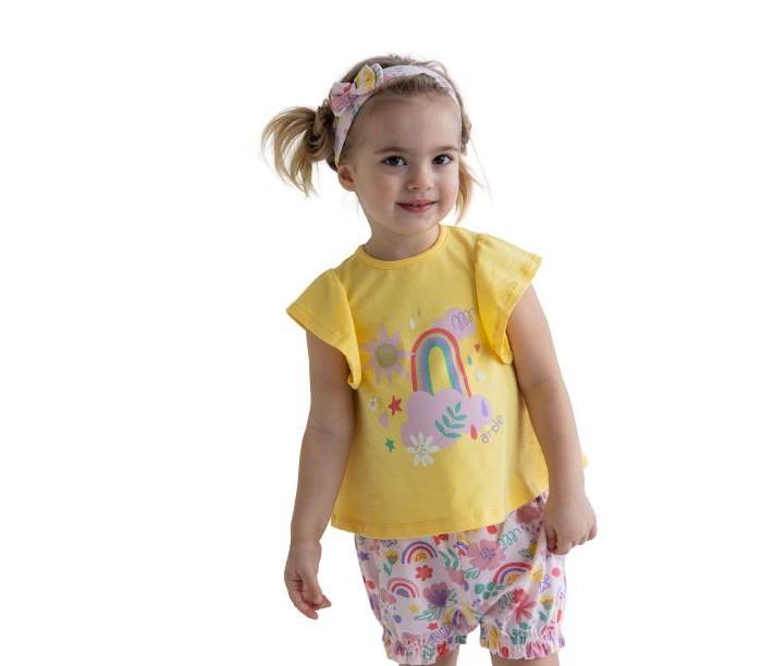Купить Комплекты детской одежды, Artie Комплект для девочек (джемпер, шорты, повязка) Rainbow AKt3-667d